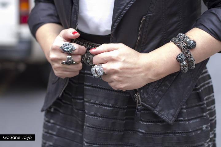 Anillos de plata y pulsera serpiente